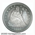 Proof Seated Quarters: , 1887 25C PR67 NGC. The glittering deeply reflective ...