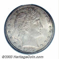 Barber Quarters: , 1903-S 25C MS66 PCGS. With just over a million pieces ...