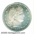 Proof Barber Quarters: , 1903 25C PR66 PCGS. This is an enchanting coin that just ...