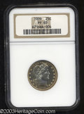 Proof Barber Quarters: , 1909 25C PR65 NGC. Flashy, highly reflective fields and ...