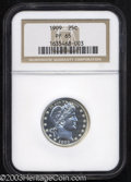 Proof Barber Quarters: , 1909 25C PR65 NGC. This well struck Gem has watery, ...