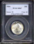 Standing Liberty Quarters: , 1924 25C MS67 PCGS. The strike on this coin is just shy ...