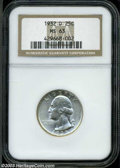 Washington Quarters: , 1932-D 25C MS63 NGC. Well struck and brilliant, with ...