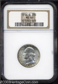Washington Quarters: , 1934-D 25C MS65 NGC. A frosty Gem whose originality in ...