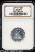 Proof Seated Quarters: , 1871 25C PR62 NGC. A crisply struck and brilliant example ...