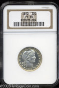 Proof Barber Quarters: , 1892 25C PR64 NGC. Type Two Reverse. A well struck and ...