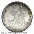 Bust Half Dollars: , 1808 50C MS65 PCGS. O-102a, R.2. An intensely frosted ...