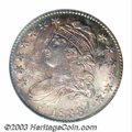 Bust Half Dollars: , 1833 50C MS65 PCGS. O-102, R.1. A richly toned Gem, with ...