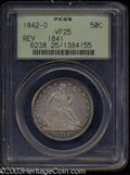 Seated Half Dollars: , 1842-O 50C Reverse of 1841 VF25 PCGS. WB-101. Small Date, ...