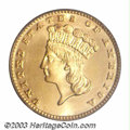 Gold Dollars: , 1884 G$1 MS67 PCGS. Only 5,230 business strikes of this ...