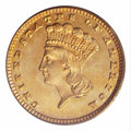Proof Gold Dollars: , 1882 G$1 PR66 Cameo PCGS. Bright apricot patina enriches ...