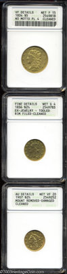 1836 $2 1/2 Script 8 Quarter Eagle--Ex-Jewelry, Tooled, Rim Filed, Cleaned--ANACS, Fine Details, Net Good 4, McCloskey-D...