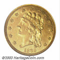 Classic Quarter Eagles: , 1836 $2 1/2 Script 8 MS62 PCGS. McCloskey-D, Head of 1835,...