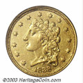 1838-C $2 1/2 AU50 PCGS. Winter 1-A. A popular and scarce Classic Head issue, the inaugural year of production at the Ch...