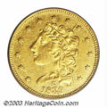 Classic Quarter Eagles: , 1839-C $2 1/2 VF35 PCGS. Winter 2-A. The obverse of this ...