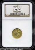 Classic Quarter Eagles: , 1839-O $2 1/2 AU50 NGC. High Date, Wide Fraction, Breen-...