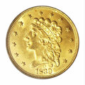 Classic Quarter Eagles: , 1839-O $2 1/2 MS62 PCGS. Low Date, Close Fraction, Breen-...