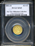 1852-O $2 1/2 XF45 PCGS. Both sides of this more available O-mint issue exhibit decent sharpness for the issue and glimp...
