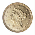 Liberty Quarter Eagles: , 1856-C $2 1/2 AU55 NGC. Variety 17-J, the only known ...