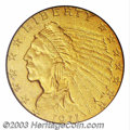 Proof Indian Quarter Eagles: , 1911 $2 1/2 PR67 PCGS. Proof gold from 1911 broke with ...