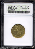 Classic Half Eagles: , 1838-C $5 --Cleaned--ANACS. XF Details, Net VF30. Breen-...