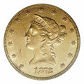 Liberty Eagles: , 1872-CC $10 AU50 PCGS. Winter 1-A. The '72-CC is given a ...