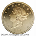 Proof Liberty Double Eagles: , 1885 $20 PR65 Cameo NGC. The 1885 Liberty Double Eagle is ...