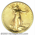 High Relief Double Eagles: , 1907 $20 High Relief, Wire Rim MS63 PCGS. Vibrant mint ...