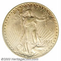 Saint-Gaudens Double Eagles: , 1921 $20 MS61 PCGS. The 1921 is both an elusive date and ...