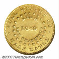 Territorial Gold: , 1849 Norris, Gregg, & Norris Five Dollar--Repaired--ANACS. ...