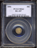 California Fractional Gold: , 1856 50C Liberty Octagonal 50 Cents, BG-307, High R.5, MS61 ...