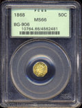 California Fractional Gold: , 1868 50C Liberty Octagonal 50 Cents, BG-906, High R.4, MS66 ...