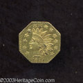 California Fractional Gold: , 1881 50C Indian Octagonal 50 Cents, BG-957, Low R.6, AU50 ...