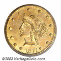 California Fractional Gold: , 1871 50C Liberty Round 50 Cents, BG-1044, High R.6, MS64 ...