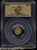 California Fractional Gold: , 1876 50C Indian Round 50 Cents, BG-1063, Low R.6, MS62 PCGS....