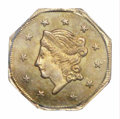 California Fractional Gold: , 1871 $1 Liberty Octagonal 1 Dollar, BG-1104, High R.4, MS65 ...