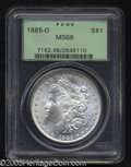 1885-O $1 MS66 PCGS. A splendid, boldly struck Gem with satiny brilliance and a near absence of surface marks. From the...