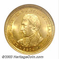 Commemorative Gold: , 1904 G$1 Lewis and Clark MS64 NGC. A couple of very faint ...