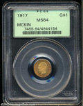 Commemorative Gold, 1917 G$1 McKinley MS64 PCGS. A very appealing near-Gem ...