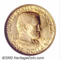 Commemorative Gold: , 1922 G$1 Grant no Star MS66 NGC. Both sides of this ...