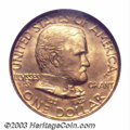 Commemorative Gold: , 1922 G$1 Grant with Star MS65 NGC. A well frosted Gem ...