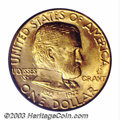 Commemorative Gold: , 1922 G$1 Grant with Star MS66 PCGS. Razor sharp with ...