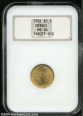 Commemorative Gold, 1926 $2 1/2 Sesquicentennial MS64 NGC. Full mint frost ...