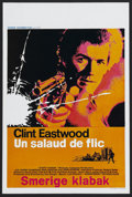 "Movie Posters:Action, Dirty Harry (Warner Brothers, 1971). Belgian (14"" X 22""). ActionThriller. Starring Clint Eastwood, Harry Guardino, Reni San..."
