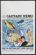 "Movie Posters:Adventure, Captain Nemo and the Underwater City (MGM, 1969). Window Card (14""X 22""). Adventure/Fantasy. Starring Robert Ryan, Chuck Co..."
