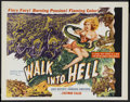 "Movie Posters:Adventure, Walk Into Hell (Patric, 1956). Half Sheet (22"" X 28"") . Adventure.Starring Chips Rafferty, Reg Lye, Sergeant Major Somu and..."