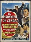 "Movie Posters:Adventure, The Prisoner of Zenda (MGM, 1952). Belgian (14"" X 19.25"").Adventure. Starring Stewart Granger, Deborah Kerr, Louis Calhern..."