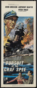 "Movie Posters:War, Pursuit of the Graf Spee (Rank, 1956). Insert (14"" X 36""). War.Starring John Gregson, Anthony Quayle, Ian Hunter and Jack G..."