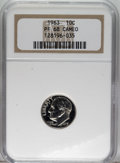 Proof Roosevelt Dimes: , 1963 10C PR68 Cameo NGC. NGC Census: (402/238). PCGS Population(310/235). Numismedia Wsl. Price: $23. (#85238)...