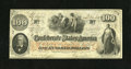 """Confederate Notes:1862 Issues, T41 $100 1862. This Scroll 1 C-note has original paper surfaces. Itis a Trans-Mississippi issue, as note was """"Issued Housto..."""